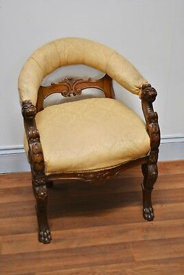 Antique mid 19th century carved chair circa 1860-80