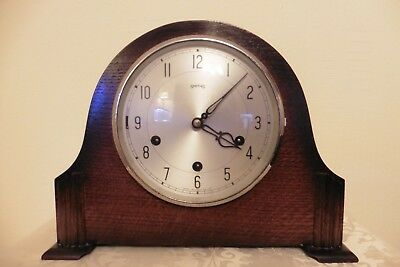 Fine Example Of A Vintage Smiths Westminster Chiming Mantle Clock ( Working )