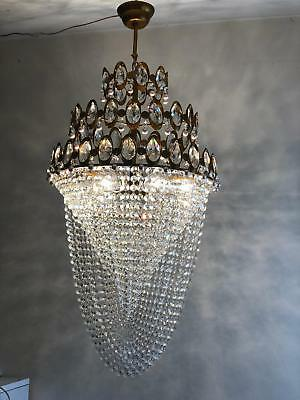 Crystal Chandelier Wedding Ceiling Light Fixture French Vintage Brass Home Lamp