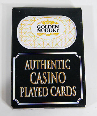 1 Deck Authentic Played Cards from Golden Nugget Casino Las Vegas Nevada