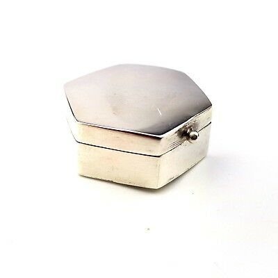 Vintage Beautiful Hallmarked Sterling Silver Pill Pot