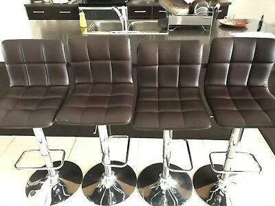 Leather Brown Bar Stools, You'll love! (qty:4)
