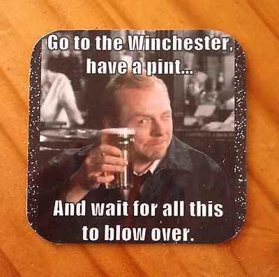 The Winchester Shaun Of The Dead  Fab Fridge Magnet Coaster