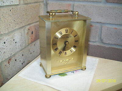 Vintage Quality London Clock Company Quartz Carrage Clock Made in England GWO