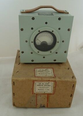 Admiralty Ammeter Portable A.P. No 61851 200 microamps galvanometer water resist
