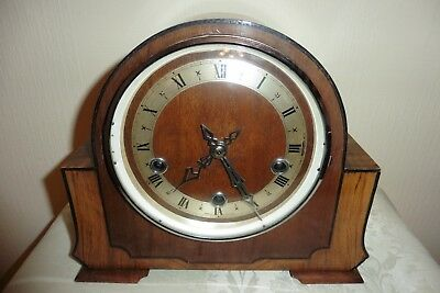 Fine Example Of A Vintage Enfield Westminster Chiming Mantle Clock ( Working )