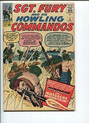 Sgt. Fury #3  7.0  F/vf  Cool Kirby Cover!  Sgt Fury #1-5 Much Harder To Find!
