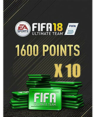 Pack 1600*10 FIFA 18 Ultimate Team Points - FOR PC - Origin Code - Worldwide