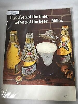 "1971 Miller theme song ""If you've got the time, we've got the beer."" add"