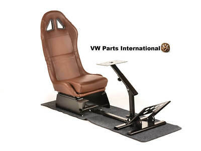 Car Gaming Racing Simulator Frame Chair Seat Forza PS4 PS3 XBox PC Faux Leather