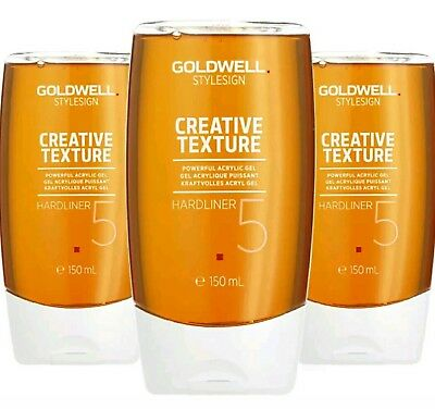 3 Stück  Goldwell Style Sign Creative Texture Hardliner Acryl Gel 150ml