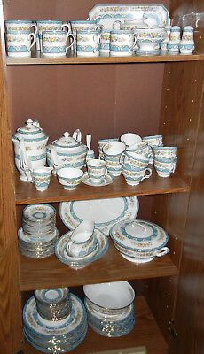 Reduced! - Mint Crown Staffordshire Lyric Tunis Blue Dishes - Many Variations