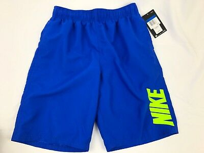 Nike Swim Trunks Shorts Boys Youth XL Blue Mesh Lined Pockets Drawstring Board