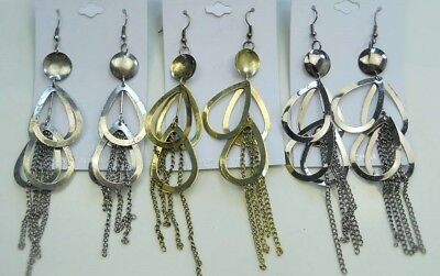 fashion jewelry lot long style antique gold/silver/hematite dangle earrings S6