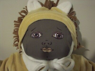 """Handmade Soft Sculpture African American Baby Doll, So soft & Cute! 21"""""""