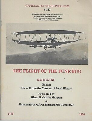 Program Flight of June Bug Curtiss Museum Hammondsport '76 Bicentennial Booklet