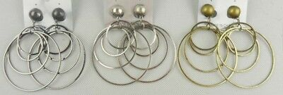 fashion jewelry lot round style antique gold/silver/hematite dangle earrings S14