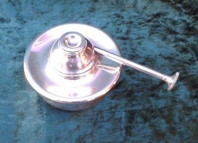 Antique Silver Plated Spirit Kettle Lamp.Walker & Hall.