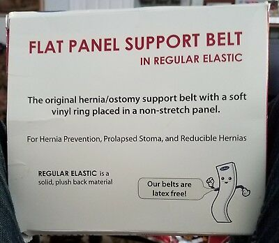"""Nu Support Flat Panel Belt 2 5/8 Opening, 6"""" Wide X Large New"""