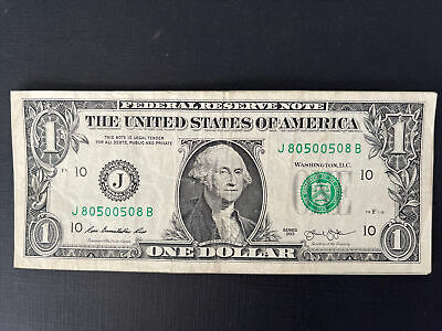 RADAR - TRINARY $1 Dollar Bill in SERIAL NUMBER C 6188 8861 C