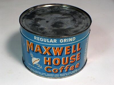 Maxwell House Regular Grind Coffee Tin Sealed NOS Unopened Key Wind Full