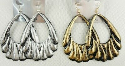 fashion jewelry lot simple chunky style antique gold/silver dangle earrings S17