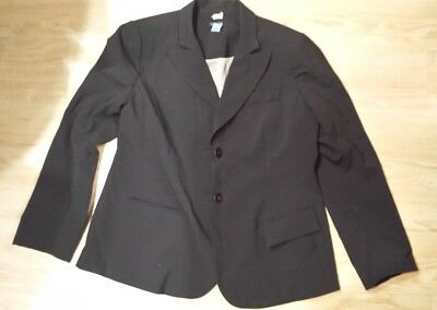 Pea in the Pod Large Black Maternity Stretch Wool Pant Suit 12 Tall Long
