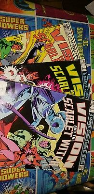 The Vision and the Scarlet Witch #1 #2 #4 Nov Dec 1982 Feb 1983 Marvel Avengers