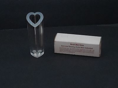 """Vintage - NEW IN BOX! """"SUBTLE REFLECTIONS"""" Heart MINI VASE - Princeton Ind. Corp"""