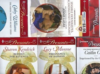 Lot 6 Harlequin Presents Romance Novels Paperbacks Pregnancy Passion Revenge!