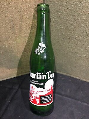Vintage Mountain Dew Bottle Put Up By Henry Lester & Allen