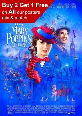 Mary Poppins 2018 Movie Poster A5 A4 A3 A2 A1