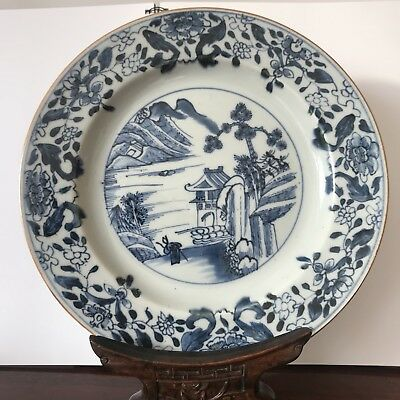 chinese antique porcelain plate Blue And White