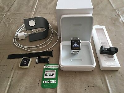 Apple Watch Series 1 42mm Stainless Steel Band Charging Stand MJYP2LL/A 1st Gen