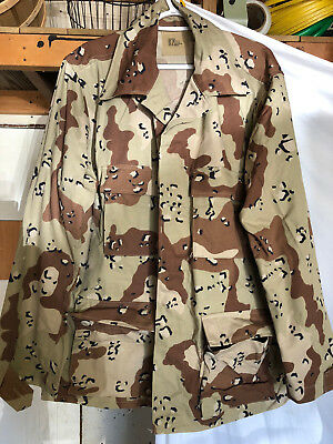 6 Color Desert Camo DCU Chocolate Chip BDU Shirt Large-Regular 50/50 New NWOT