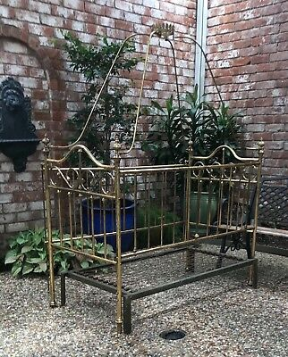 brass baby bed