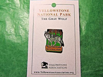 Yellowstone National Park Gray Wolf Lapel Hat Pin Wyoming Travel Souvenir-Lp3