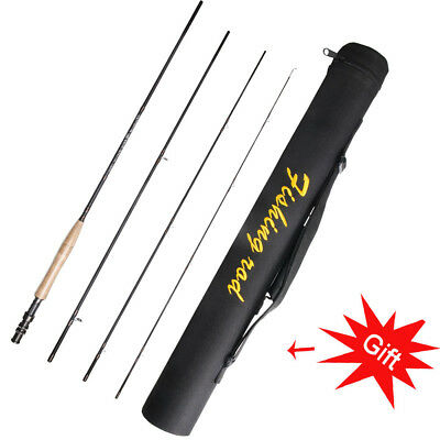 Fly Rod 100% Carbon Fiber Lightweight 2.4M/2.7M 3 4 5 6 WT Pole Rod and Rod Case