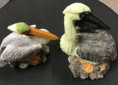 Pelican Sculpture Figurines 2 Yard Work Originals 6 inches tall Pacific Ent INC