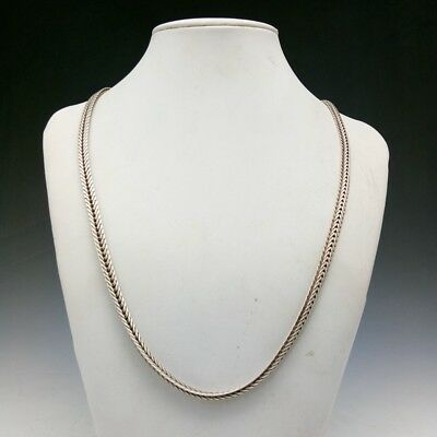 China's Tibet Silver Pure Handmade Craft Fine Necklace