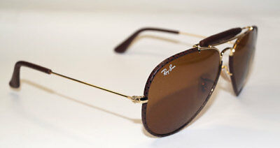 d3e388c747 RAY BAN Sonnenbrille Sunglasses RB 3422Q 9041 Gr.58 - Leather Collection