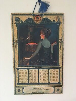 1925 Three Page Westinghouse Art Deco Calendar Pressler Eggleston Price