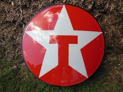"Texaco gas station round lighted sign, 1999, 33"" diameter"