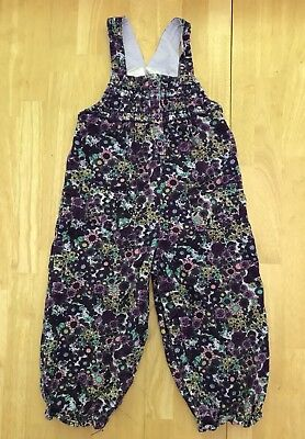 Toddler Baby Girls 18 Months Koala Baby Purple Floral Corduroy Overalls