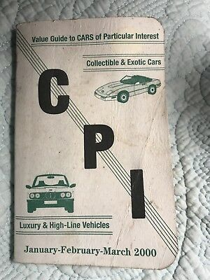 Vintage CPI car price guide book 2000 Value Guide to cars of interest~Used