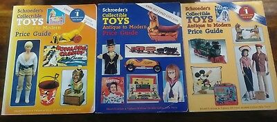 Vintage Schroeders Collectible Toys Book Lot of 3 Antique To Modern Price Guide