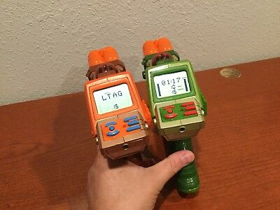 Set of 2  LAZER TAG Team OPS Blaster Orange and Green Tiger NERF AS-IS
