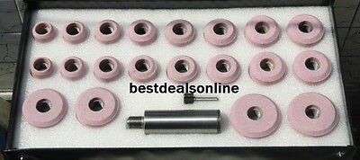 Valve Seat Grinding Stones Set Of 20 Pink With Sioux  Holder Freeship @ B