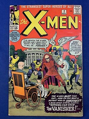 X-Men #2 (1963 Marvel Comics) 1st appearance of The Vanisher Silver Age