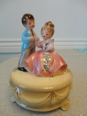 Beautiful Josef Originals Girl and Boy figurine couple holding hands